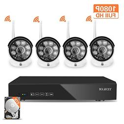 YESKAM 1080P Wireless Security Camera System Outdoor Full HD