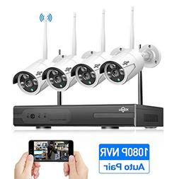 Security Camera System Wireless,HD Video Security System 4Pc