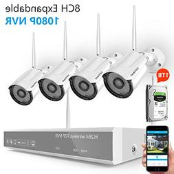 Wireless Security Camera System with Night Vision,Safevant 8
