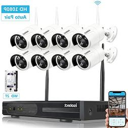 Best Wireless Security Camera System, Isotect 8CH 1080P CCTV