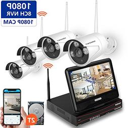 Wireless Security Camera System,SMONET 8CH 1080P Video Secu