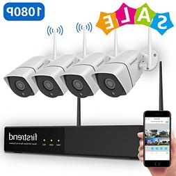 1080P Wireless Security Camera System, Firstrend 8CH Wireles
