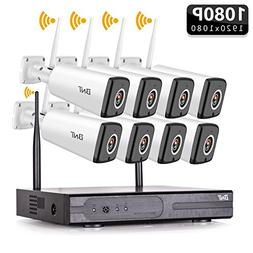 BNT Wireless Security Camera System, 8Channel WIFI NVR & 8 x