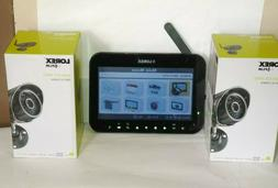 """LOREX Wireless Security System w/ 4 Cameras & 7"""" LCD Monitor"""