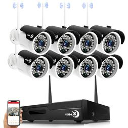 XVIM Wireless Wifi 1080P Outdoor Security Camera System 4/8C
