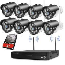 XVIM Wireless Wifi 1080P Outdoor Security Camera System Wide