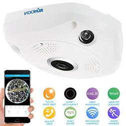 KKmoon 960P HD Wireless Wifi VR IP Camera 360 Degree Full Vi