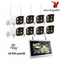 YobangSecurity 11 inch Monitor 8CH 960P Wifi Wireless NVR <f
