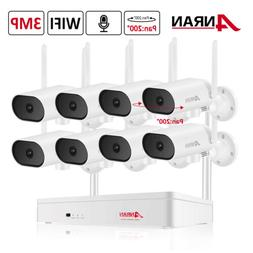 Zoohi 8CH 1080P Outdoor Wireless Security Camera System 1080